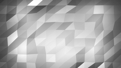 Abstract Black and White Polygonal Background. Triangular abstract texture with gradient