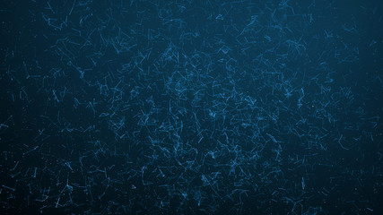 Abstract connected dots on dark blue background. Technology concept