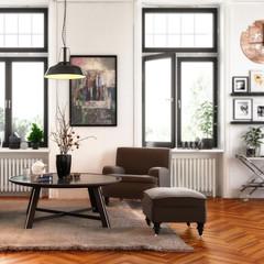 Modern Retro Style Apartment (detail)