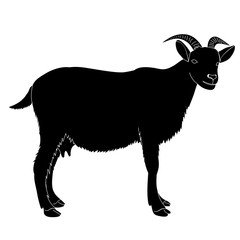 silhouette goat with horns