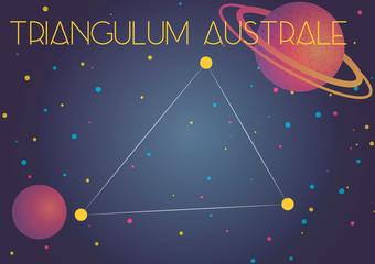 The constellation Triangulum Australe