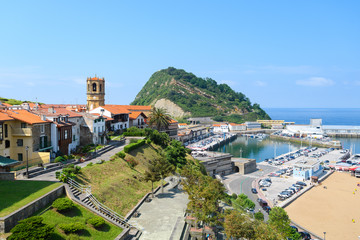 beautiful fishing town of getaria at Basque Country, Spain