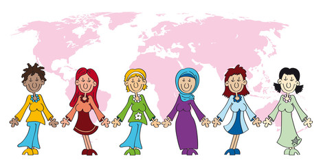 Internationaler Frauentag, Weltfrauentag - cartoon-IT