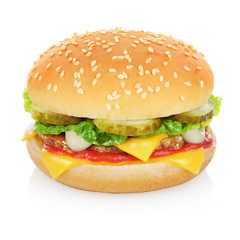 Cheese burger isolated