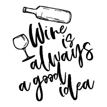 Wine is always a good idea - lovely Concept with decanter and wine glass . Good for scrap booking, posters, textiles, gifts, travel sets.