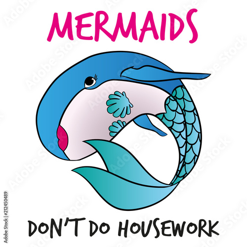 Funny Vector Text Quotes And Whale Drawing