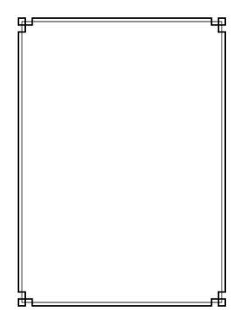 Vector retro page border