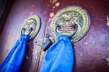 Buddhist temple door