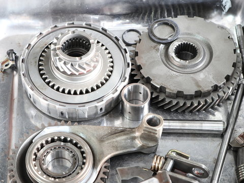 The Gear parts from car transmission