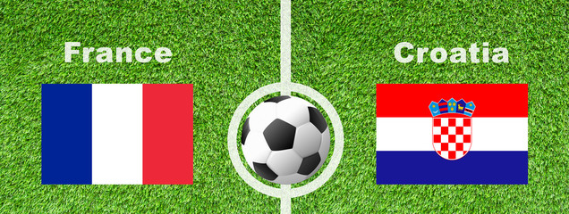 Fußball WM - Frankreich gegen Kroatien