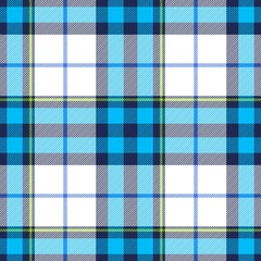 Tartan seamless plaid pattern in blue, dark blue, green and white color
