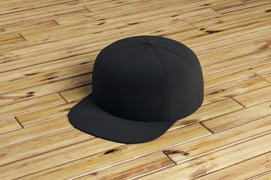 blank black snapback
