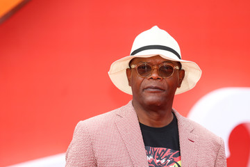 Actor Samuel L Jackson poses for photographs as he arrives at the UK premiere of Incredibles 2 in London
