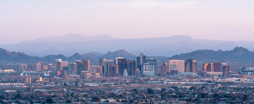 Phoenix Skyline at Sunset