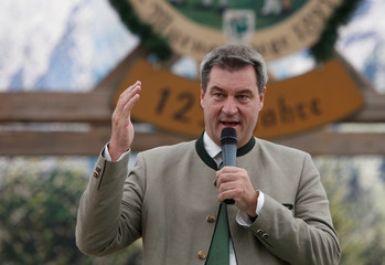 "Bavarian State Prime Minister Markus Soeder holds a speech at ""Gaufest"" in Murnau"