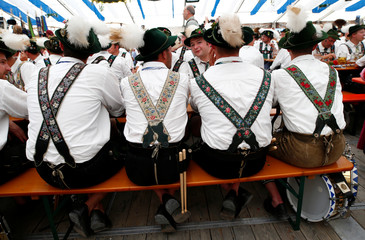 "People in traditional costumes take part at 73rd ""Gaufest"" in Murnau"