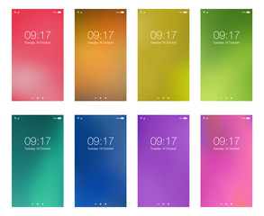 Set bright color abstract hd wallpapers for smartphone screen mobile background