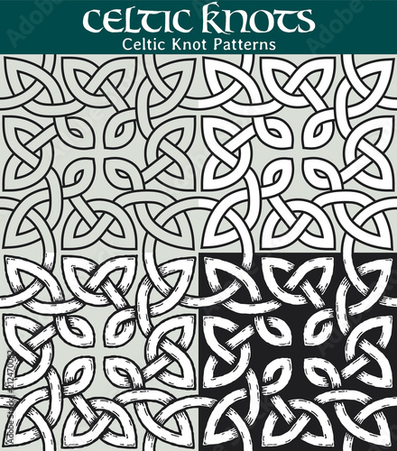 Celtic Knot Pattern 60 Different Versions Of A Seamless Pattern With Simple Celtic Knot Patterns