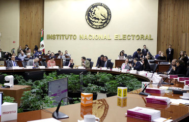 The National Electoral Institute (INE) deliver the results for the new places at the Senate after the election in Mexico City