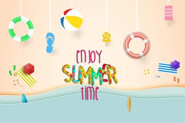 Summer background vector.