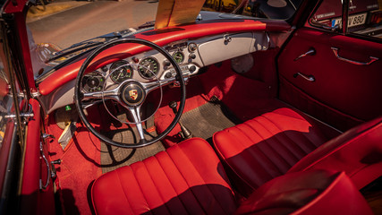 Acrylic Prints Old cars Oldtimer Innenraum