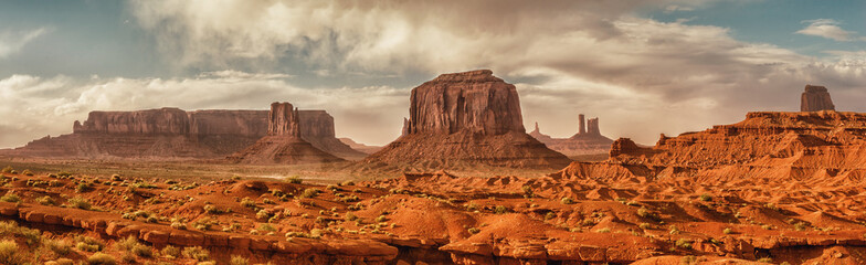Aluminium Prints American Famous Place Landscape of Monument valley. USA.