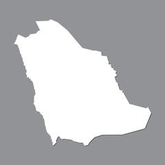 Blank map Saudi Arabia. High quality map of  Saudi Arabia on gray background. Stock vector. Vector illustration EPS10.