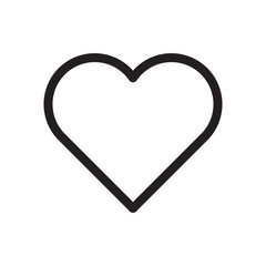 Icon love, like, heart. Logo, design, universal, business, social media. Pixel perfect. Vector Eps10.