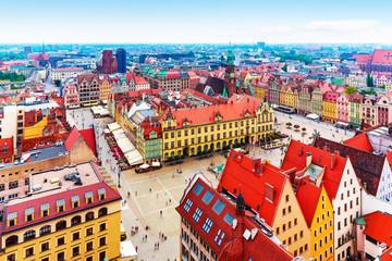 Obraz Panorama Wrocławia - fototapety do salonu
