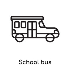 School bus icon vector sign and symbol isolated on white background, School bus logo concept