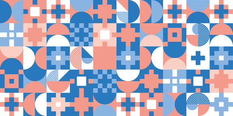 Geometric cover design, banner. Colorful geometric pattern. Geometric colorful background