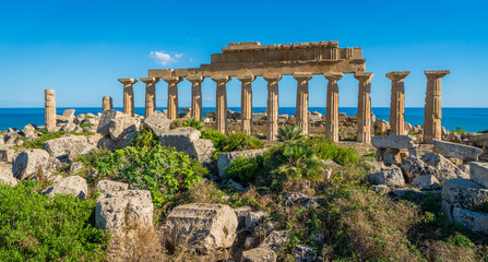 Deurstickers Rudnes Ruins in Selinunte, archaeological site and ancient greek town in Sicily, Italy.