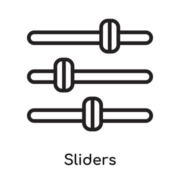 Sliders icon vector sign and symbol isolated on white background, Sliders logo concept