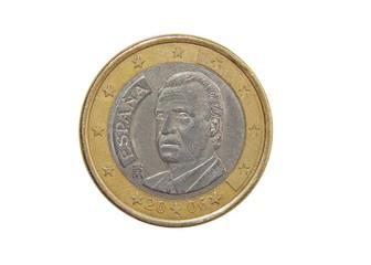 coin one euro spain