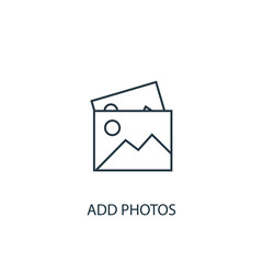 add photos concept line icon. Simple element illustration