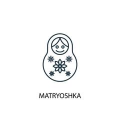 Matryoshka concept line icon. Simple element illustration