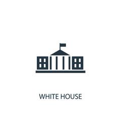 White house creative icon. Simple element illustration