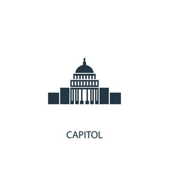 Capitol creative icon. Simple element illustration