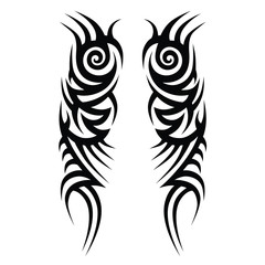 tattoos ideas sleeve designs – tribal tattoo pattern vector illustration