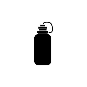 The sports water bottle, flask icon, illustration, vector