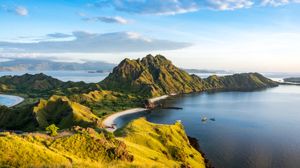 Printed roller blinds Khaki Morning Light on Padar Island, Komodo National Park, Flores Island, Indonesia