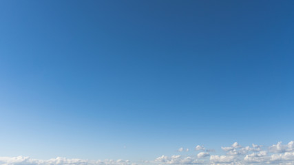blue sky with cloud on a sunny summer day