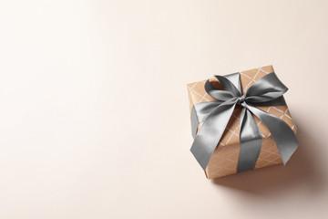 Beautiful gift box on light background