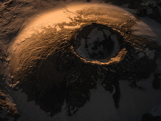 Crater close up.