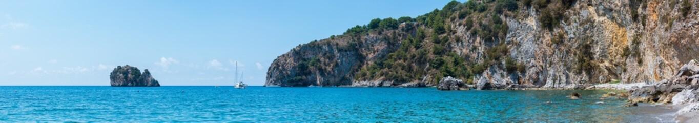 Poster Cote Tyrrhenian sea landscape, Campania, Italy