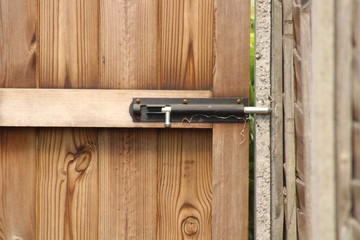 garden, gate, lock, wood, wooden, safty, bolt