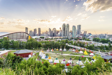 Beautiful panorama of Calgary, Alberta, Canada