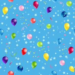 Blue pattern balloons