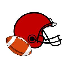 Football ball and a helmet icon