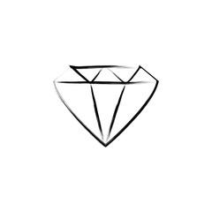 diamond sketch style illustration